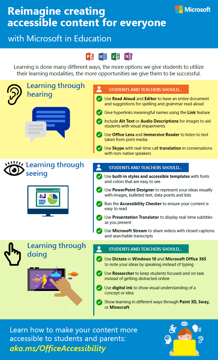Training Teachers To Author Accessible Content Microsoft In Education