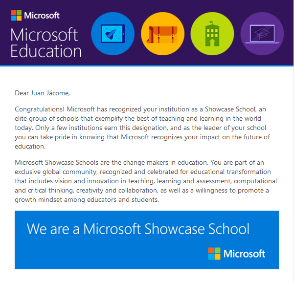 School Transformation  Class Shout Out! - Microsoft in Education