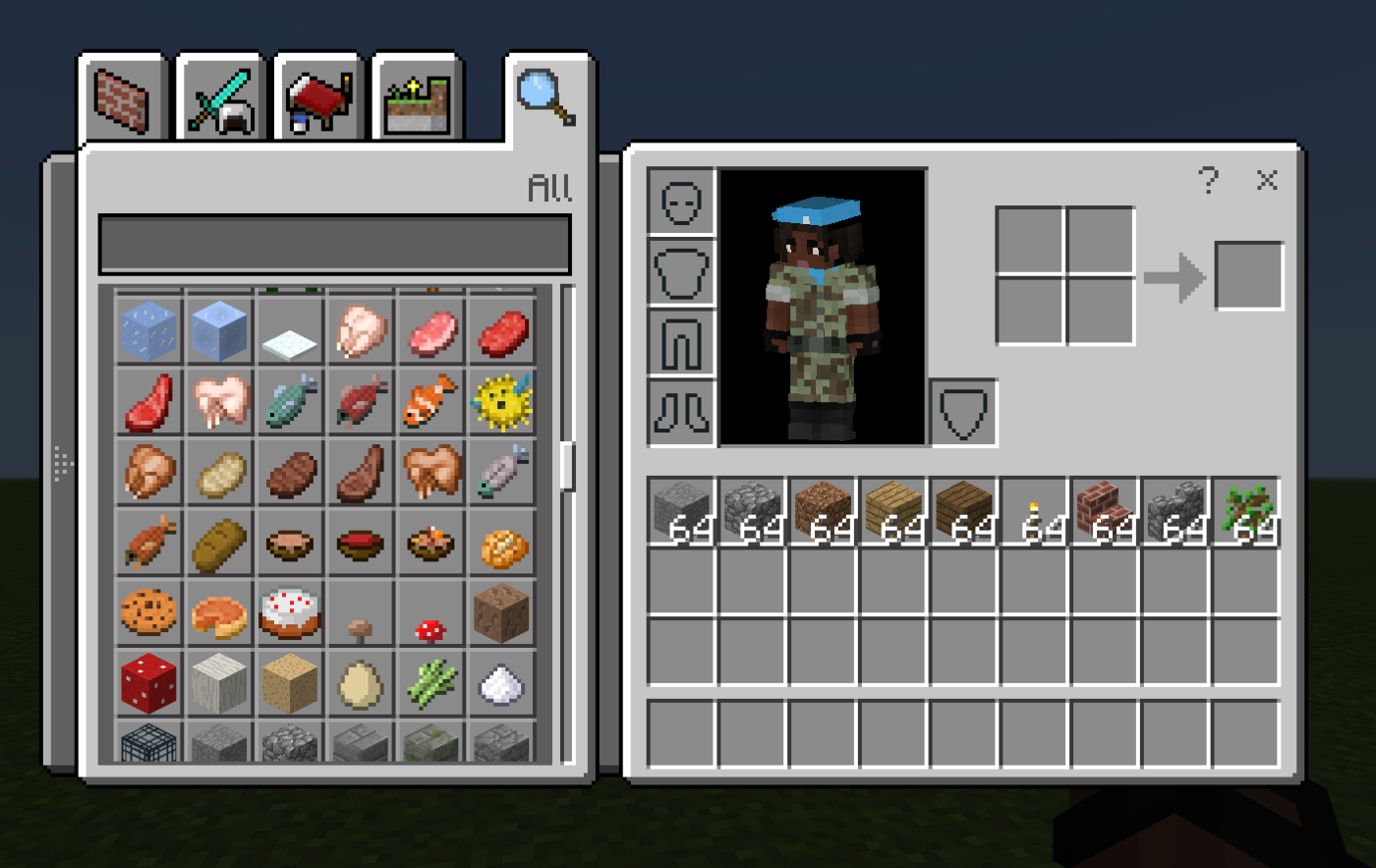 My Minecraft Journey Lesson Seven Be A Player Microsoft Redstone Commands How To Make Pulse Only Basic Items Screenshot Of Inventory