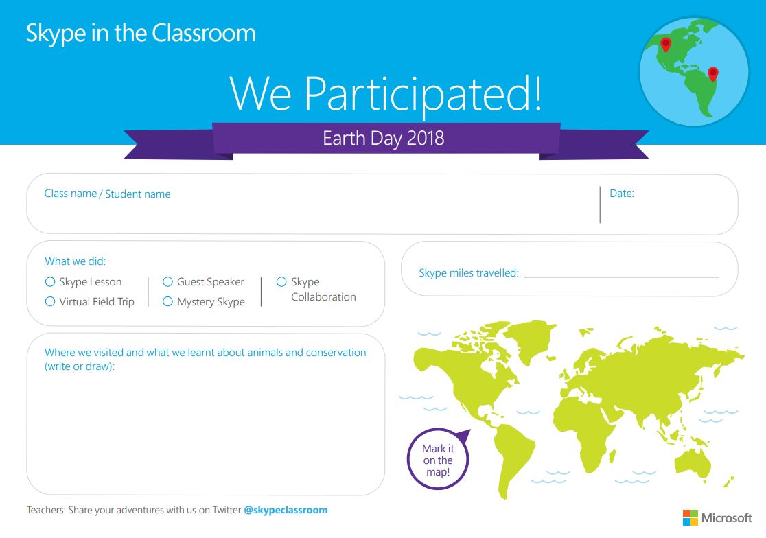 skype in the classroom certificates microsoft in education
