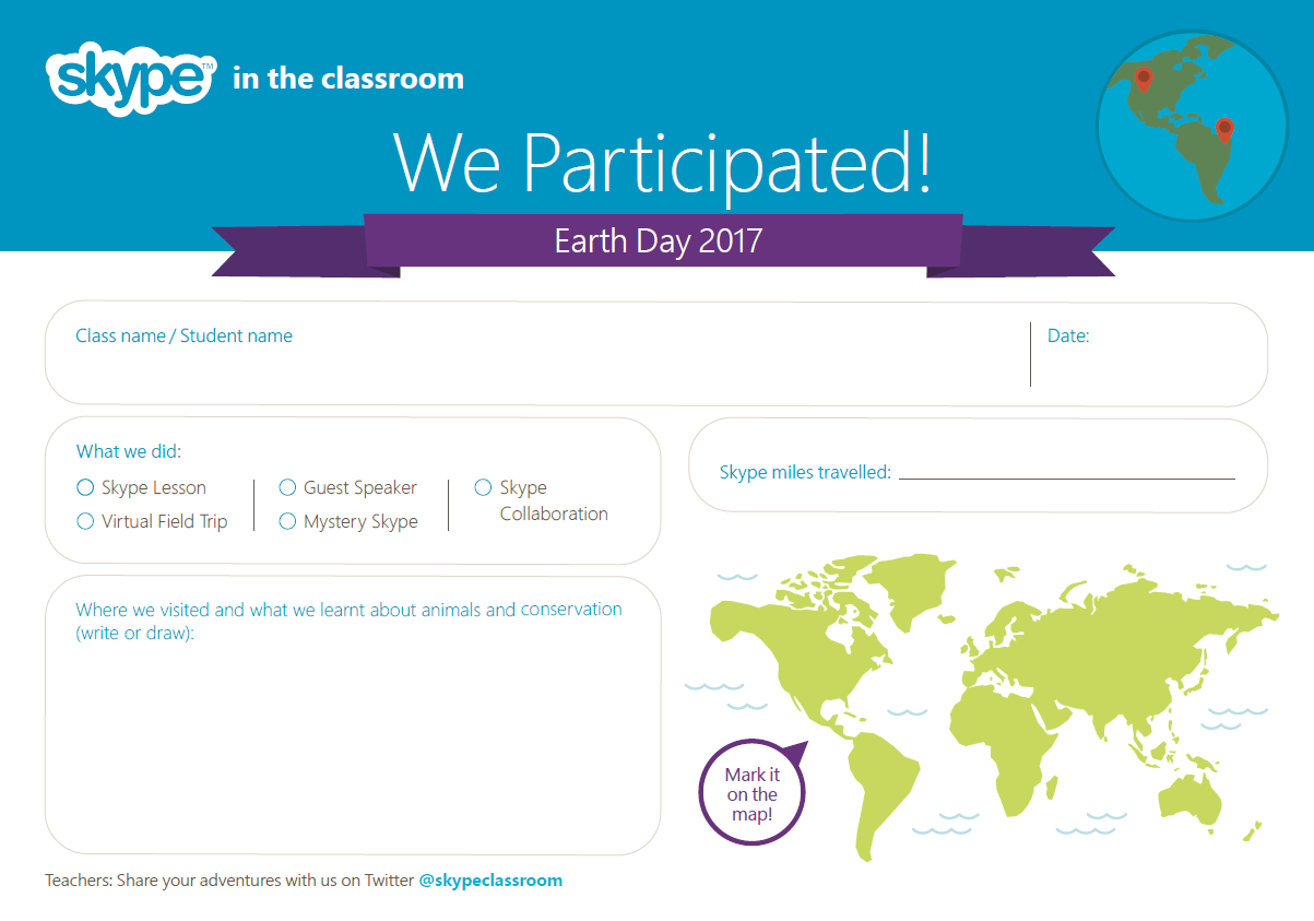 conservation skype activities microsoft in education